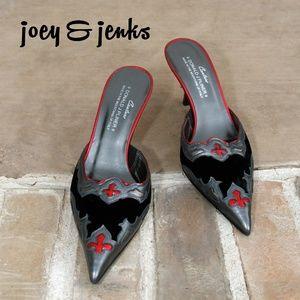 Donald J. Pliner Couture Black Velvet Heels 7.5